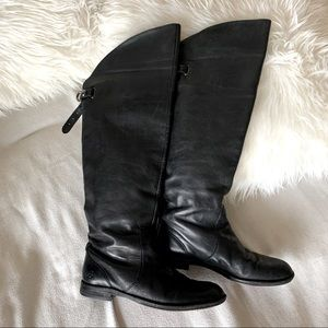 Coach Cheyenne Over the Knee Leather Riding Boots